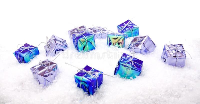 bożych narodzeń dekoraci śnieg fotografia royalty free