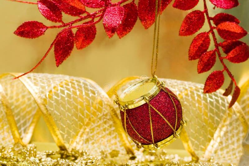 bożych narodzeń dekoraci czerwień fotografia stock