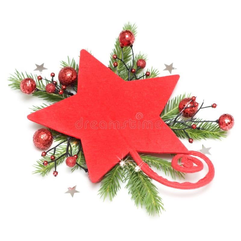 bożych narodzeń dekoraci czerwieni gwiazda obraz stock