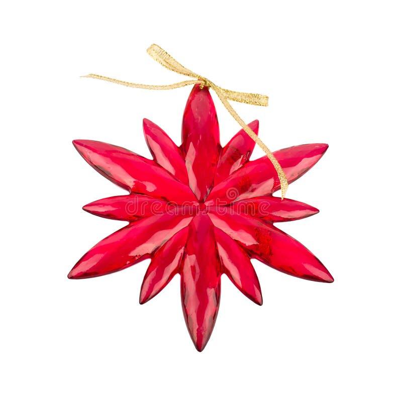 bożych narodzeń dekoraci czerwieni płatek śniegu zdjęcia stock