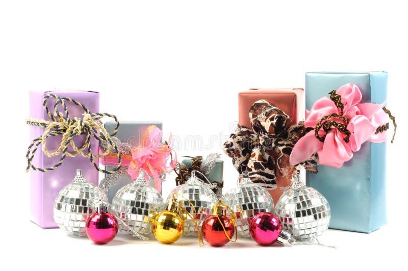 bożych narodzeń dekoraci prezenty obraz stock