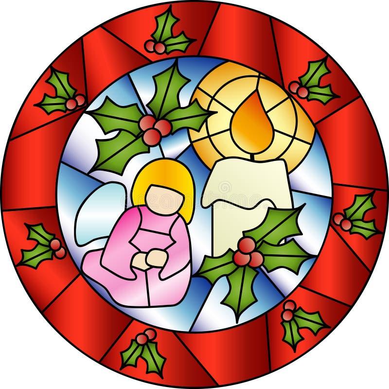 bożych narodzeń dekoraci szkło plamiący ilustracja wektor