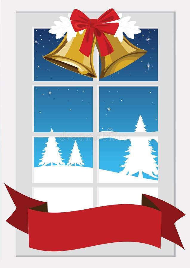 bożych narodzeń dekoraci wizerunku raster okno ilustracja wektor