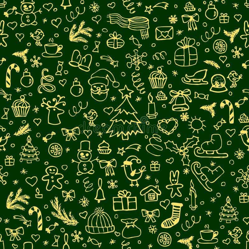 bożych narodzeń dekoraci wzór bezszwowy ilustracji