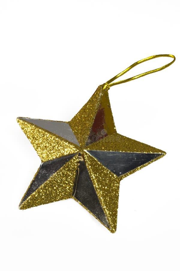 bożych narodzeń dekoraci złota gwiazda zdjęcia stock