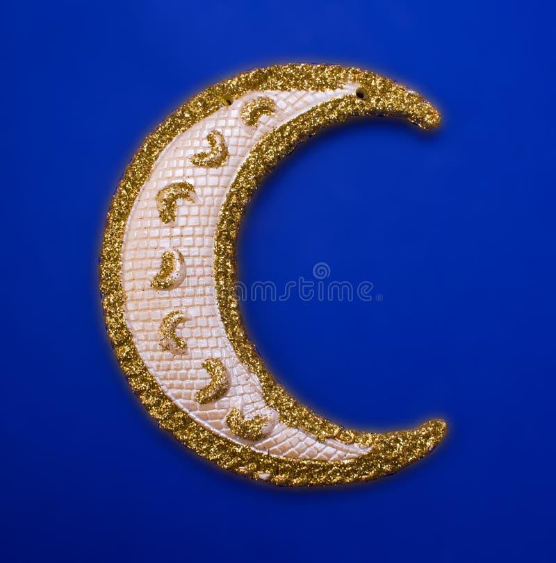 bożych narodzeń dekoraci złota księżyc obrazy royalty free