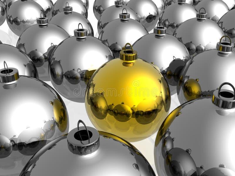 bożych narodzeń dekoraci złoty unikalny ilustracji