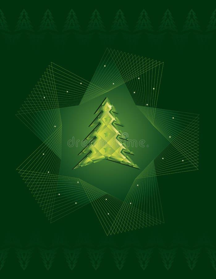bożych narodzeń diamentu zieleni drzewo ilustracji