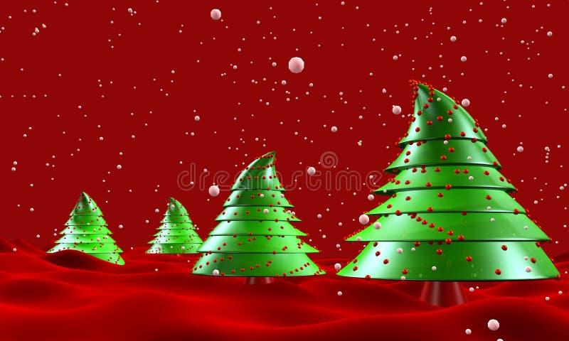 bożych narodzeń drzewa spadać śnieżni ilustracja wektor
