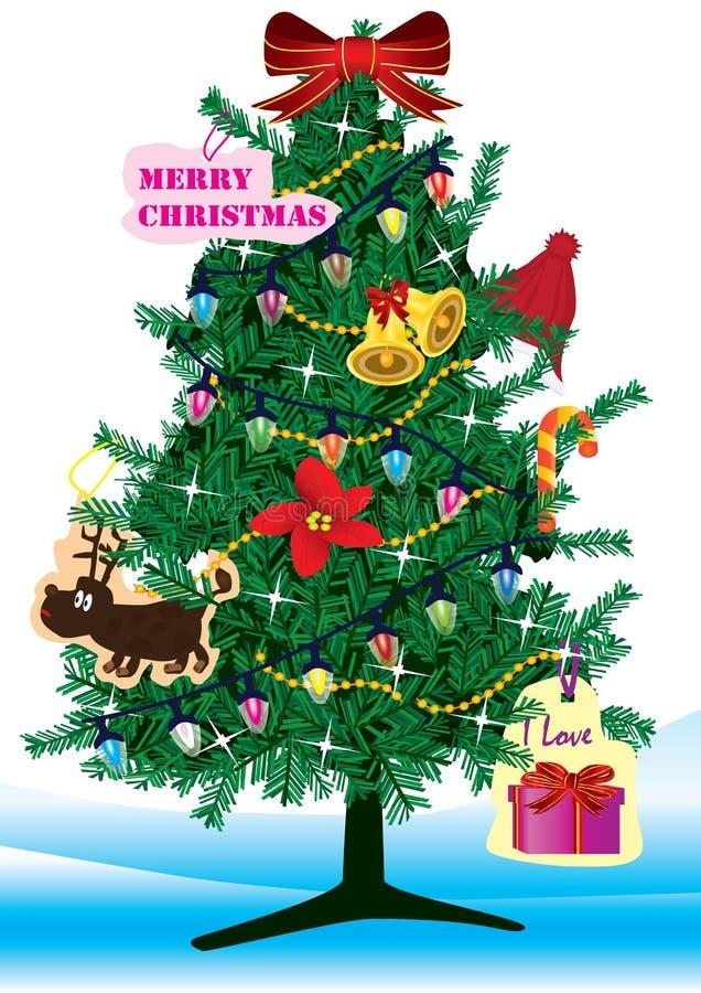 Bożych Narodzeń Eps Drzewo Obrazy Stock