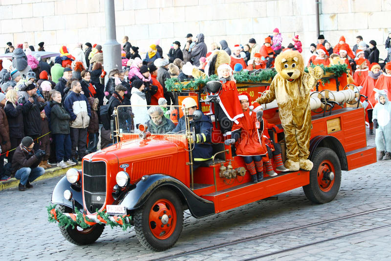 bożych narodzeń Helsinki otwarcia ulica zdjęcia royalty free
