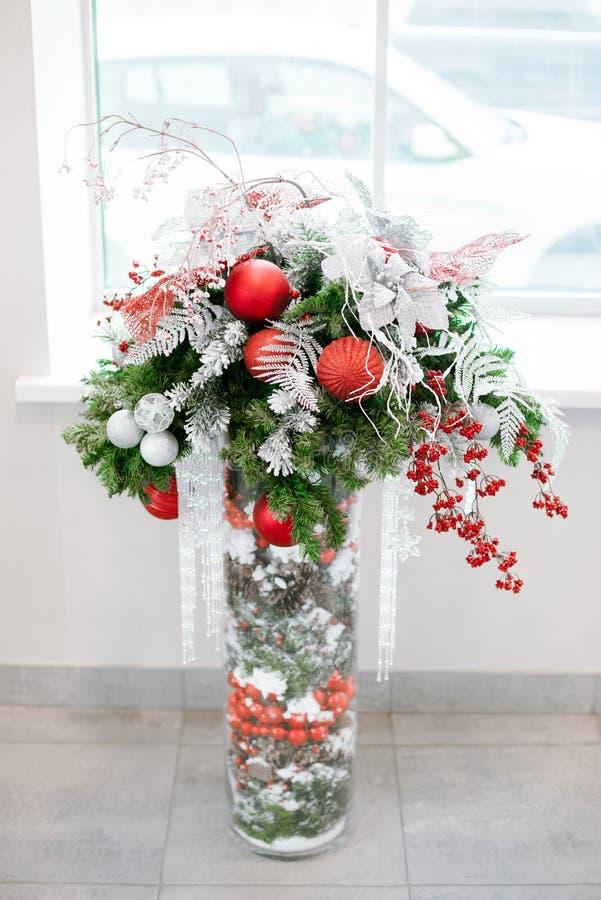 Bożych Narodzeń i nowy rok kwiatów skład obrazy royalty free