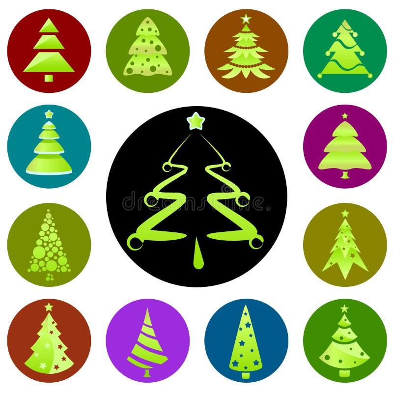 bożych narodzeń ikony drzewo royalty ilustracja