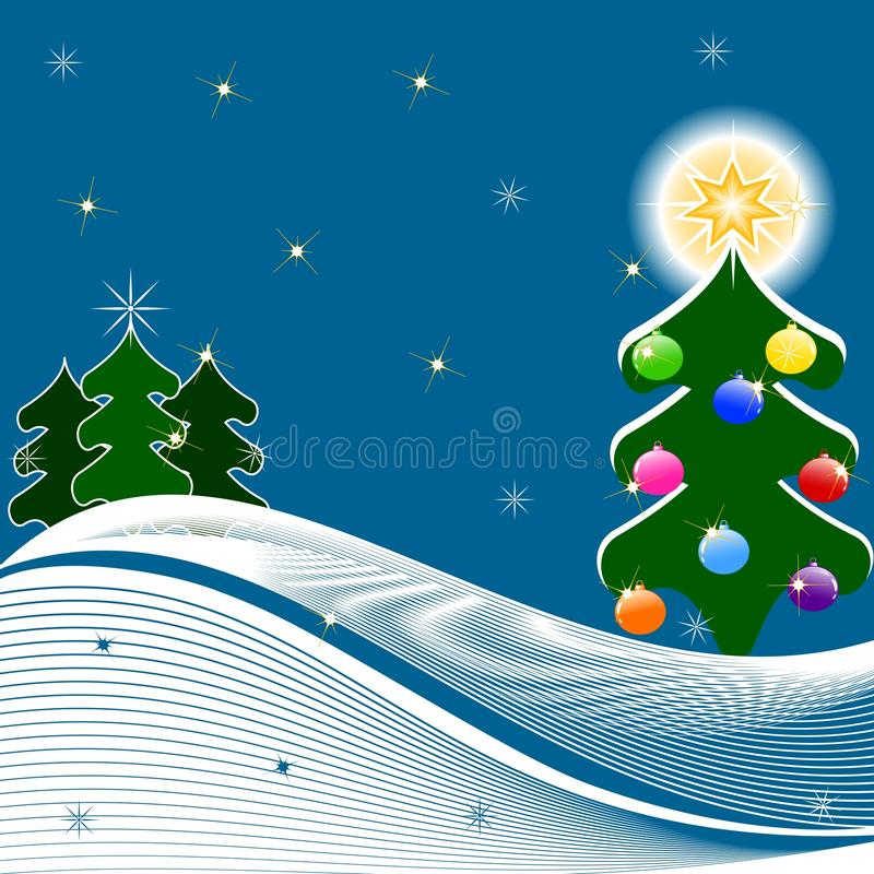 Bożych Narodzeń Ilustracyjny Drzewa Wektor Obraz Stock