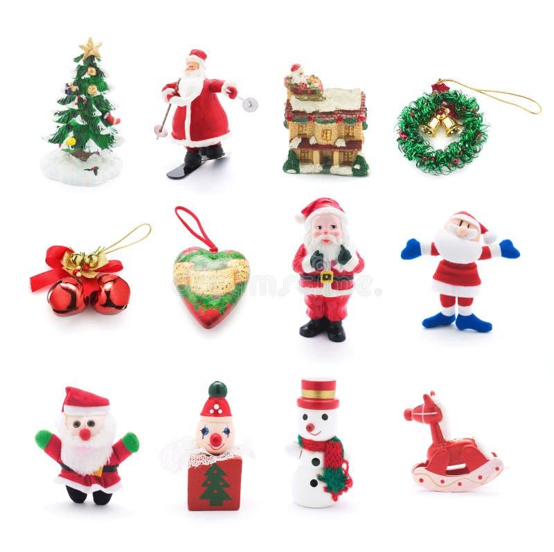 bożych narodzeń kolekci ornamenty fotografia stock