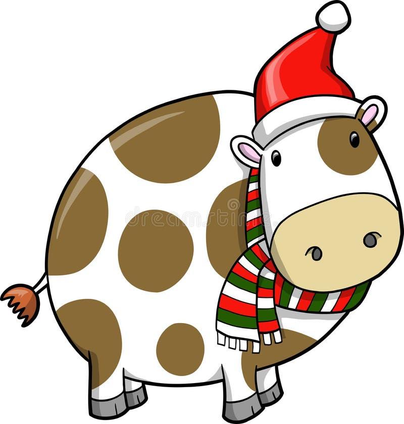 bożych narodzeń krowy wakacje ilustracji