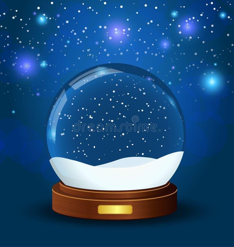 bożych narodzeń kuli ziemskiej śnieg royalty ilustracja