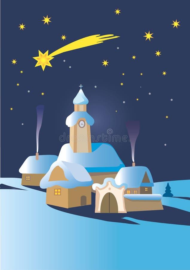 bożych narodzeń noc zima ilustracji