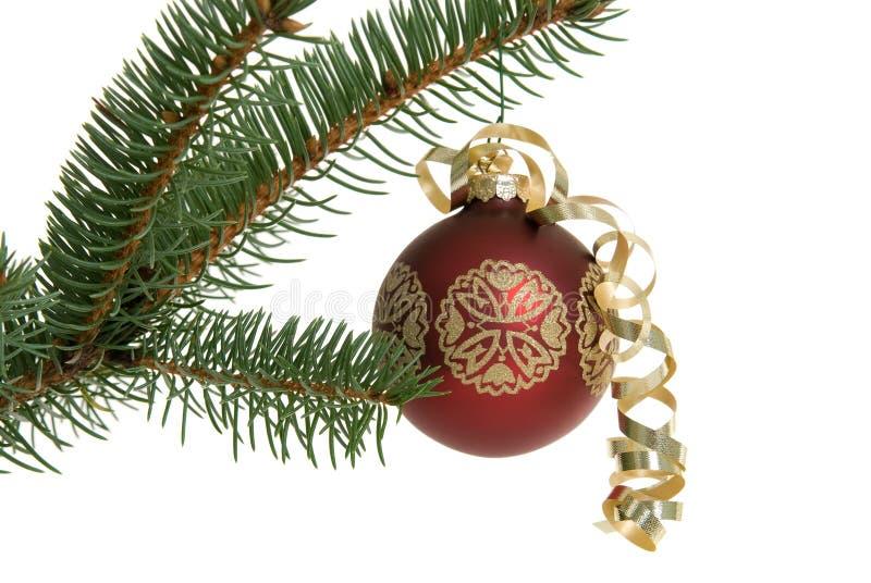 bożych narodzeń ornamentu czerwieni drzewo fotografia stock