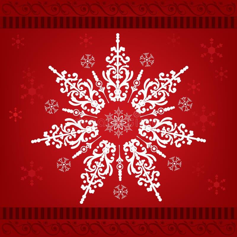 bożych narodzeń ornamentu płatek śniegu ilustracja wektor