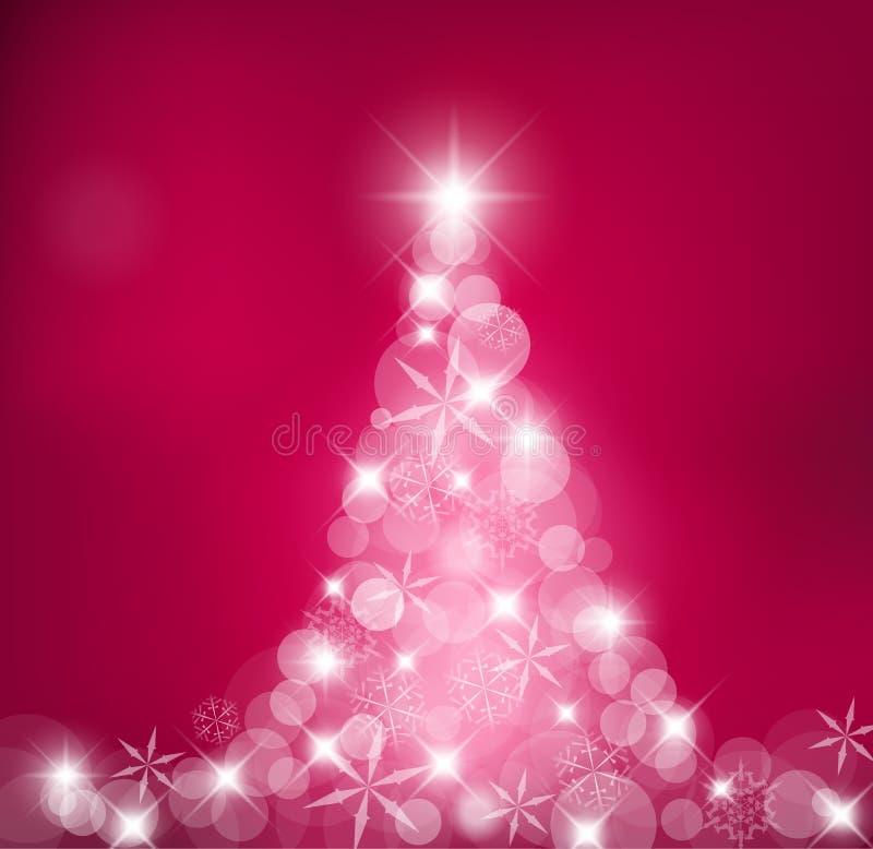 bożych narodzeń płatków światło robić śnieżny drzewo ilustracja wektor