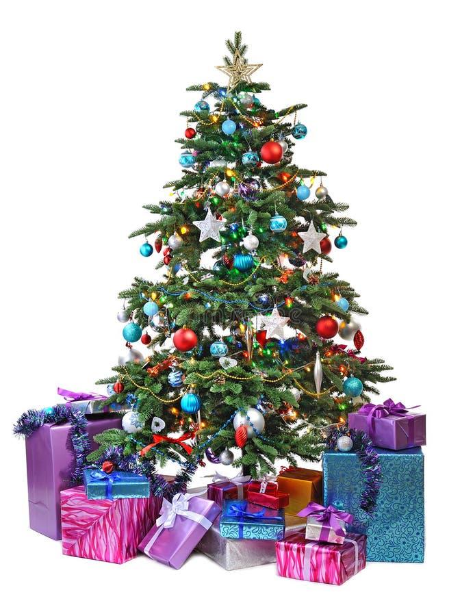 bożych narodzeń prezentów ilustracyjny drzewa wektor obrazy stock
