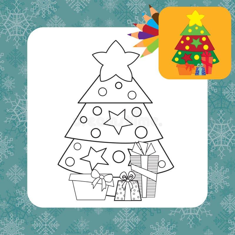 bożych narodzeń prezentów ilustracyjny drzewa wektor Barwić stronę ilustracja wektor