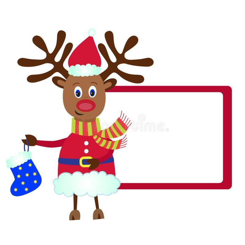 bożych narodzeń prezenta renifer Rudolf royalty ilustracja