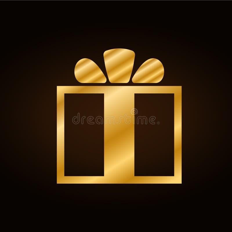 bożych narodzeń prezenta złota przestrzeni tekst royalty ilustracja