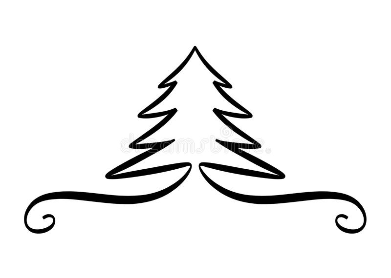 bożych narodzeń projekta elementu drzewo royalty ilustracja