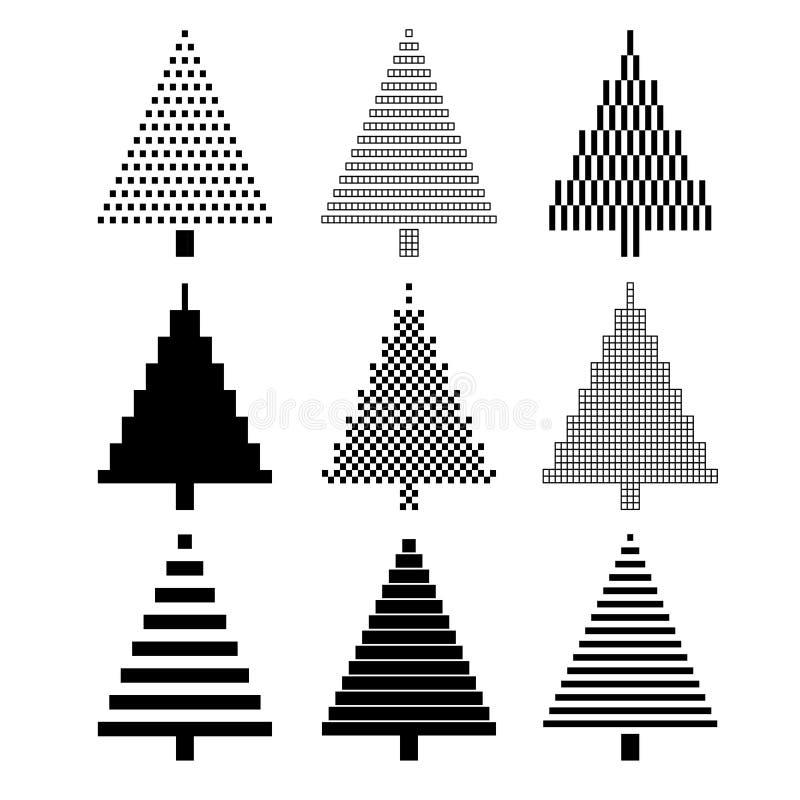 bożych narodzeń projekta elementy ustawiający drzewo royalty ilustracja