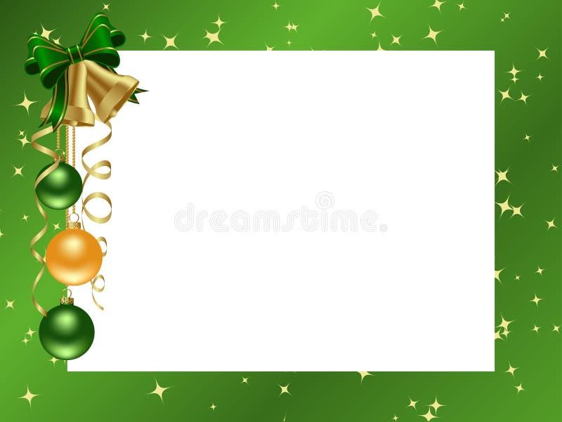bożych narodzeń ramy zieleni ornamental ilustracja wektor