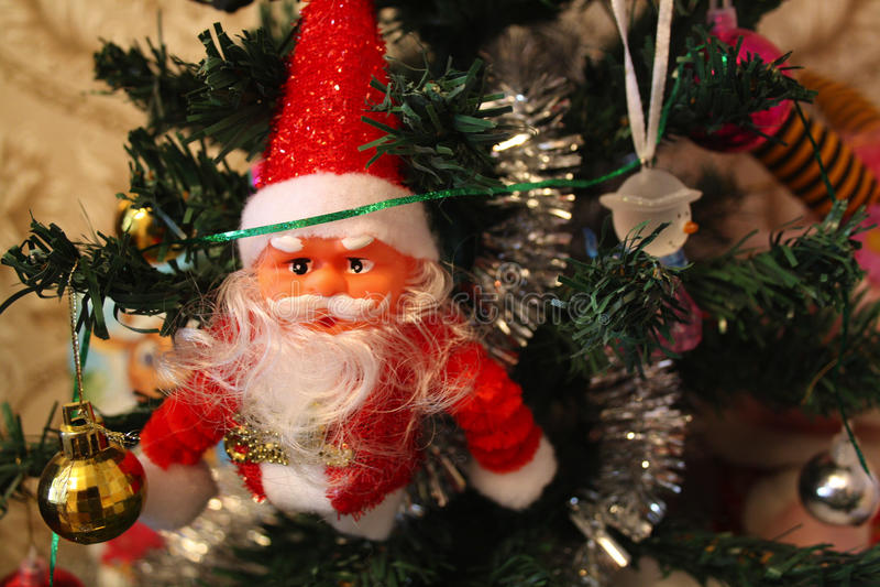 bożych narodzeń Santa drzewo obraz stock