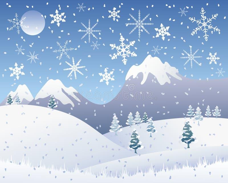 bożych narodzeń sceny śnieg ilustracji