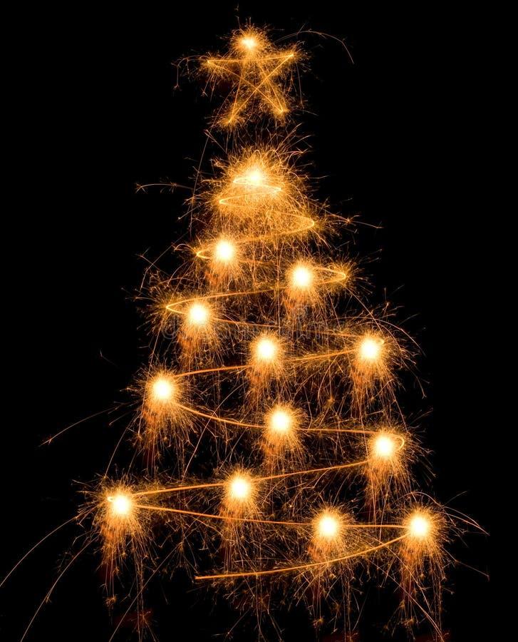 bożych narodzeń sparkler drzewo zdjęcia stock