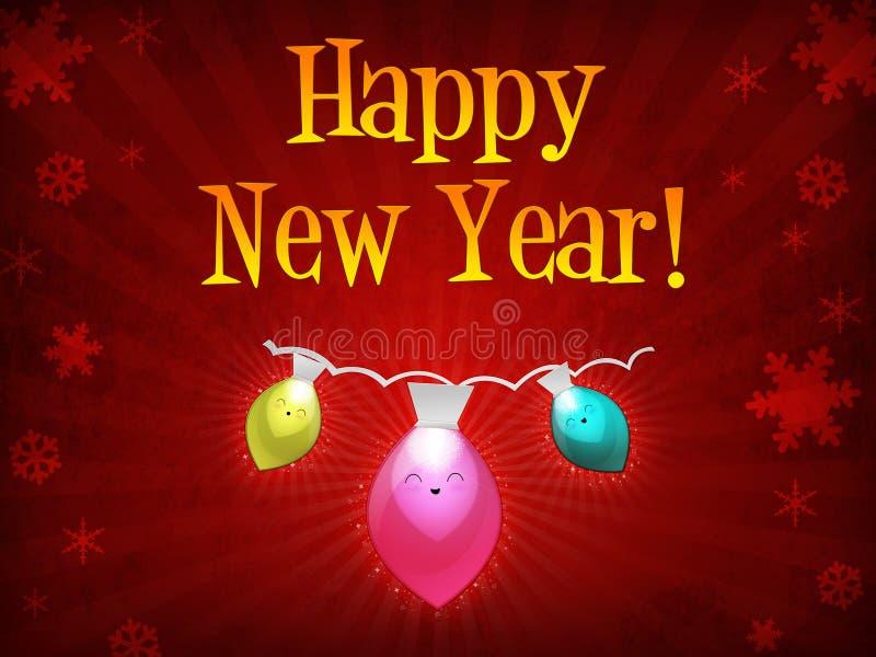 bożych narodzeń szczęśliwy świateł nowy rok ilustracja wektor