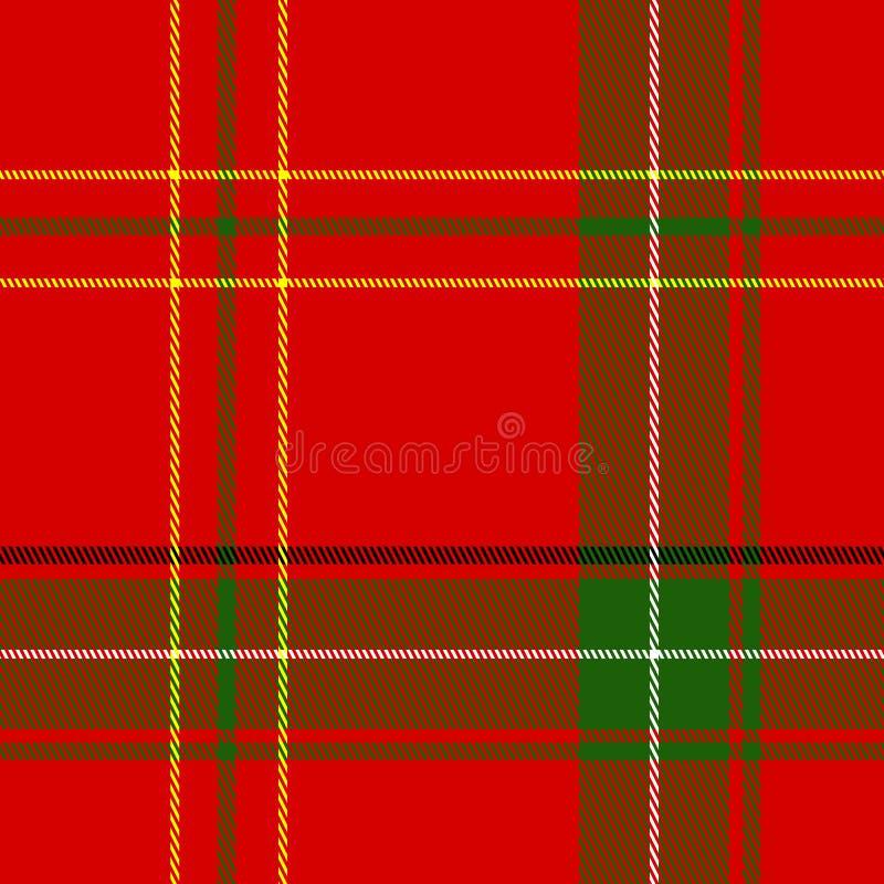 bożych narodzeń szkockiej kraty bezszwowy wektor ilustracji
