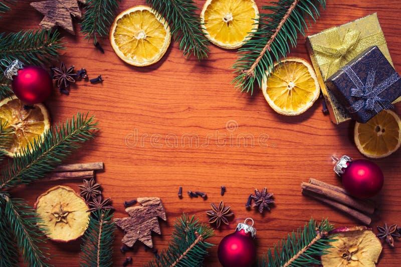 Bożych Narodzeń wciąż życie z owoc i pikantność obraz royalty free
