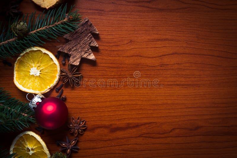 Bożych Narodzeń wciąż życie z owoc i pikantność obrazy royalty free