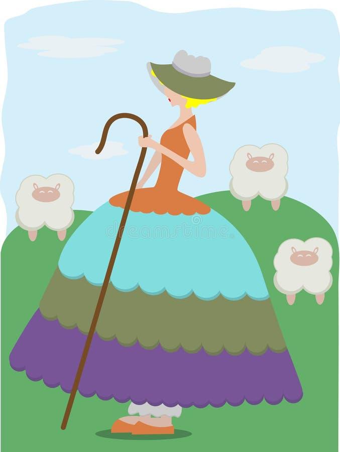 bo меньшие sheeps щели иллюстрация штока