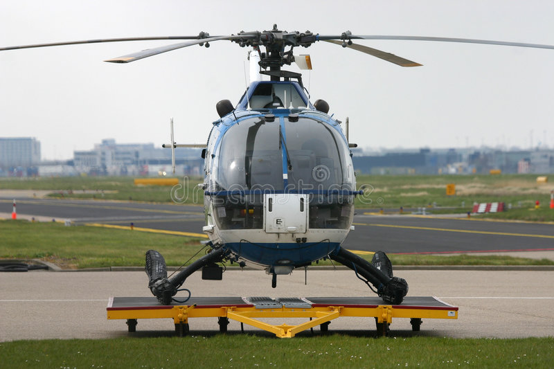 Bo-105 Police Helicopter Royalty Free Stock Photo