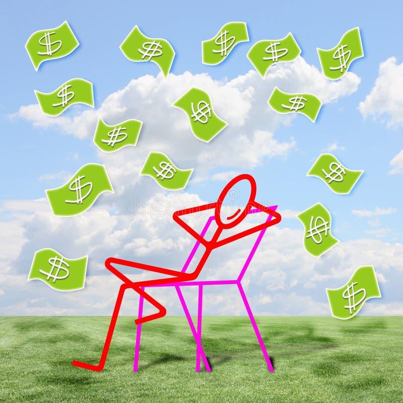 Bo av av privat inkomst - begreppsbild royaltyfri bild