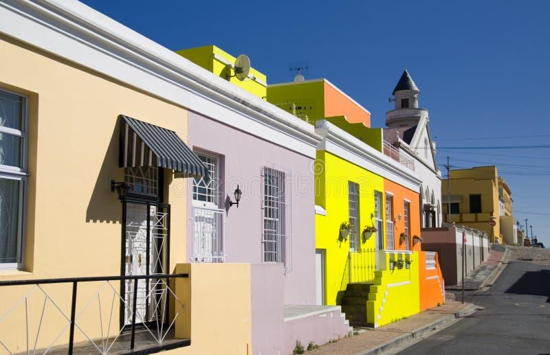 BO -BO-kaap, Kaapstad stock afbeelding