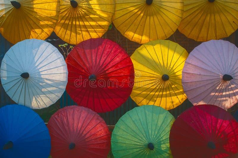 BO cantó, ciudad de la fabricación tradicional del ambrella cerca de Chiang Mai, Tailandia fotos de archivo libres de regalías