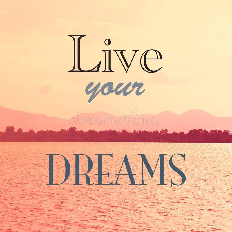 Bo dina drömmar vektor illustrationer