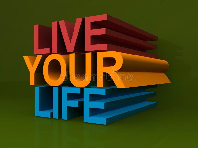 Bo ditt liv stock illustrationer