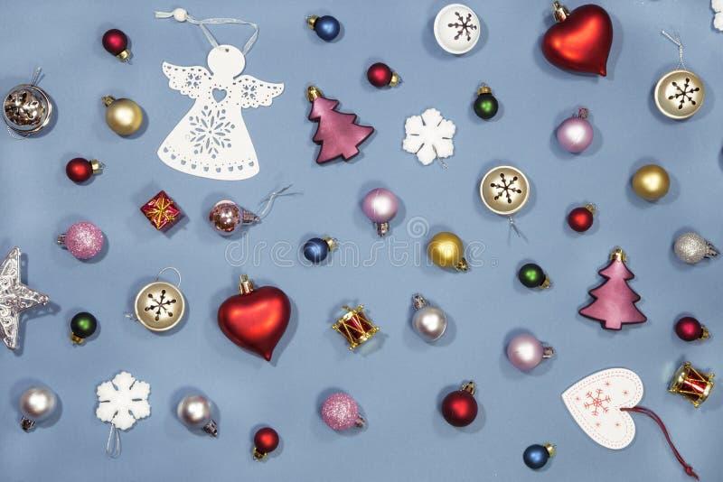 Bo?e Narodzenia i nowy rok ornamenty zdjęcie stock
