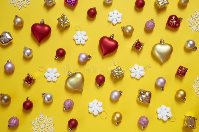 Bo?e Narodzenia i nowy rok ornamenty obrazy stock