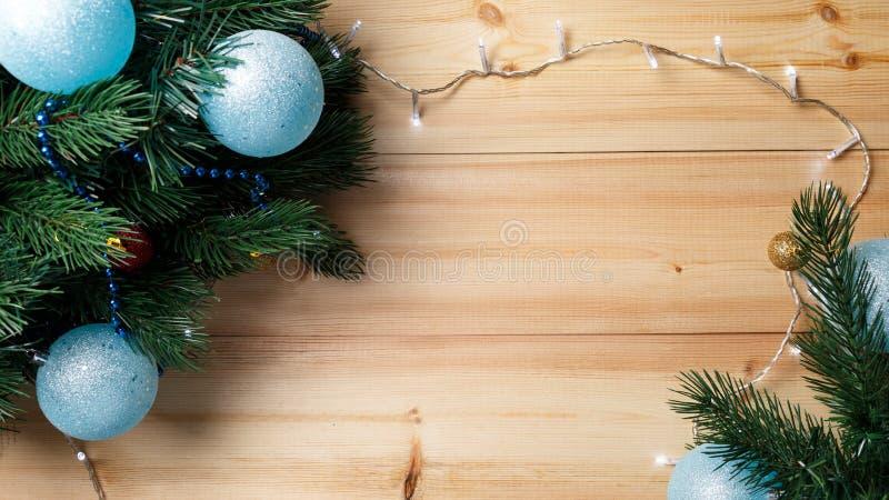 Bo?e Narodzenia lub nowy rok dekoraci t?o fotografia stock