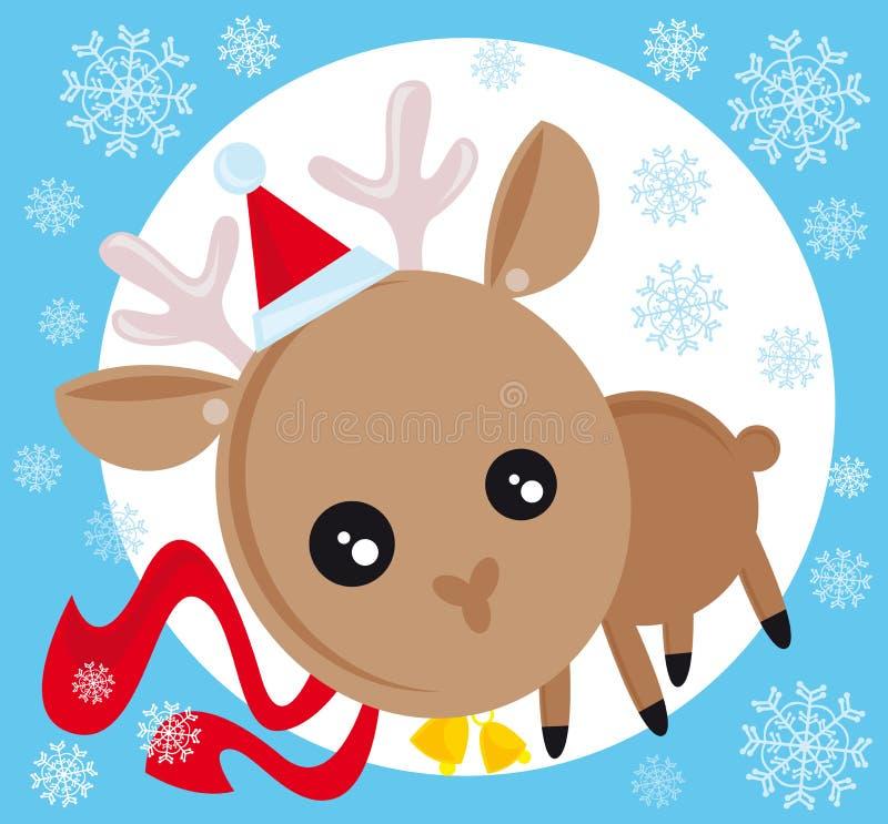 Download Boże narodzenia reniferowi ilustracja wektor. Obraz złożonej z snowflakes - 6883767